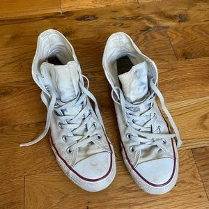 white high top converse size 8 womens